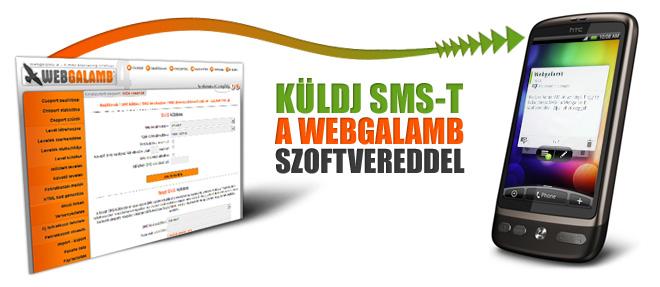 SMS funkció a Webgalambhoz